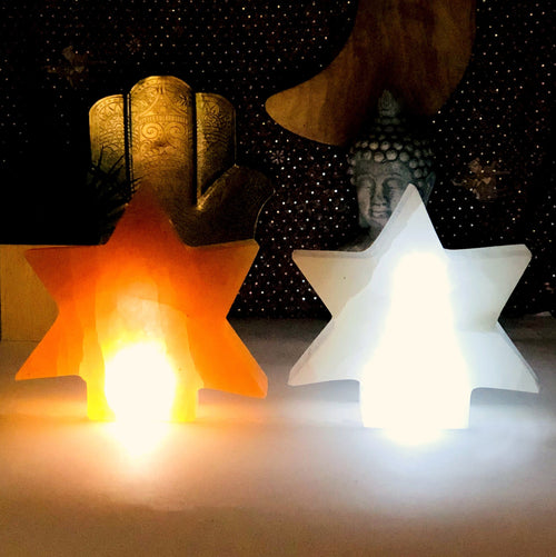 Selenite Star Shaped Lamps (RK804)