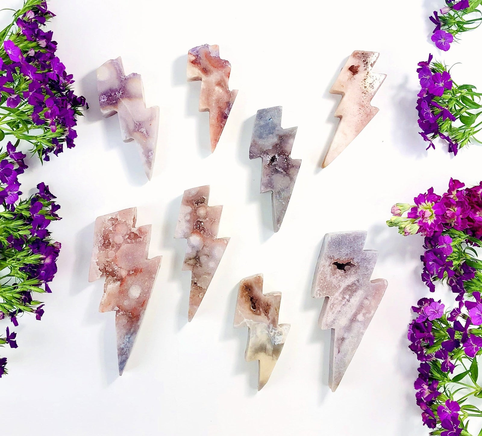 Pink Amethyst Lightening Bolts (OF2-S21)
