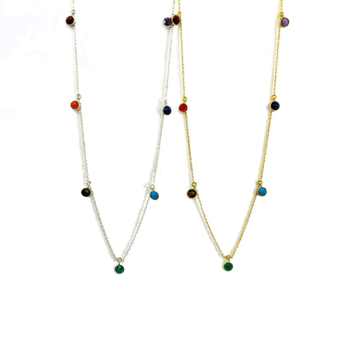 Seven Chakra Dangle Necklace (RP5043)