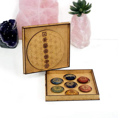 Seven Chakra Grid and Box Set (BR-35)