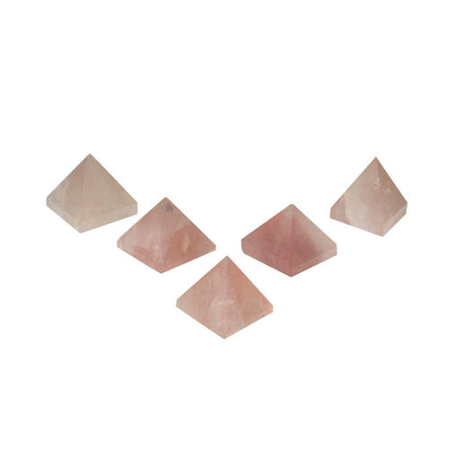 1 (ONE) Small Rose Quartz Pyramid -- Pyramid Shaped Rose Quartz Stone - Rose Quartz Stone Pyramid - Reiki RK50B16b-03