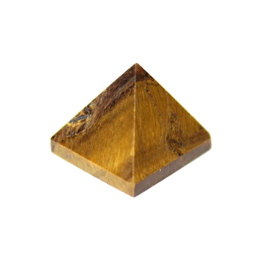 1 (ONE) Small Tiger Eye Pyramid -- Pyramid Shaped Tiger Eye Stone - Green Tiger Eye Pyramid - Reiki RK50B16b-11