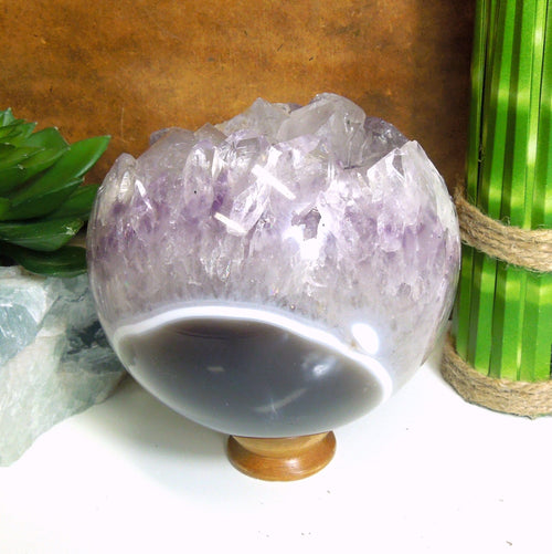 Amethyst Sphere Polished Druzy Sphere - One of a Kind (GC2-44)