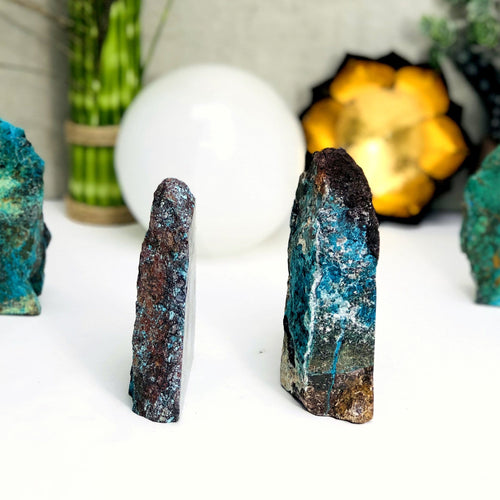 Chrysocolla Semi-Polished Cut Bases - By Weight (WRHS1-S1)