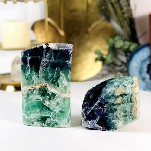 Fluorite Polished Cut Bases - By Weight (WRHS1-S1)