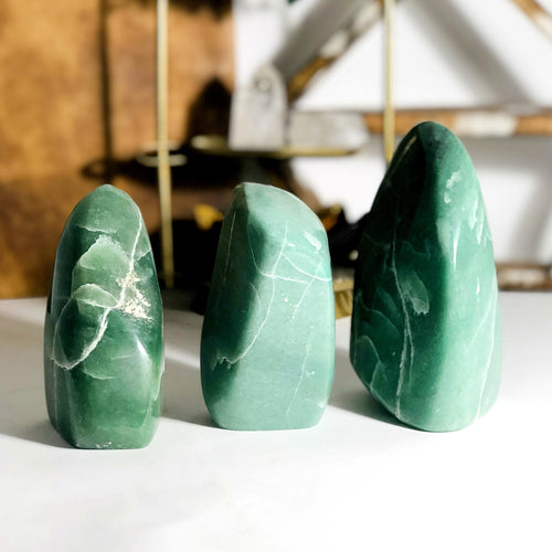 Green Aventurine Polished Cut Bases - By Weight (WRHS1-S1)