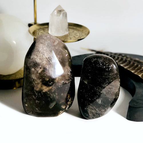 Smokey Quartz Polished Cut Bases - By Weight (WRHS1-S1)
