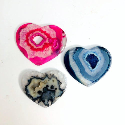 Heart Shaped Druzy Agates - YOU CHOOSE (RK157B2-01)