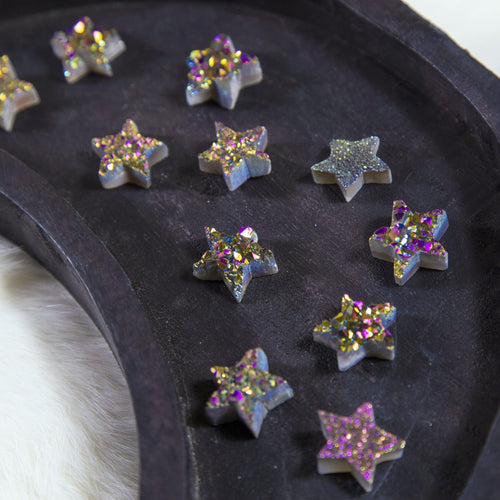 Druzy Star Titanium Rainbow Druzy Star - Crafts (RK94B11-06)