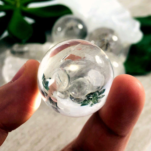 Crystal Quartz Sphere Balls AA Quality Crystal Clear (RK700-26)