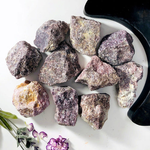 Lepidolite Rough Stone - 1 Large Piece (RK1100B20)