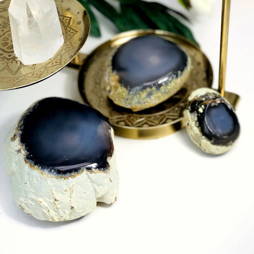 Agate Enhydro Semi-Polished Geodes - By Weight