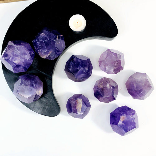Amethyst Dodecahedron Stones - By Weight (RK3021)
