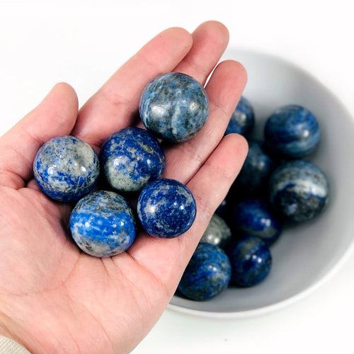 Lapis Lazuli Sphere Ball-- Round Lapis Stone - Reiki - Metaphysical - Crafting - Crystal Grids (RK700-21)