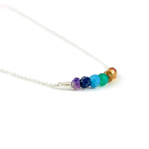 Chakra Finished Necklace with Electroplated 24k Gold/Silver Chain and Pendant (RP5042)