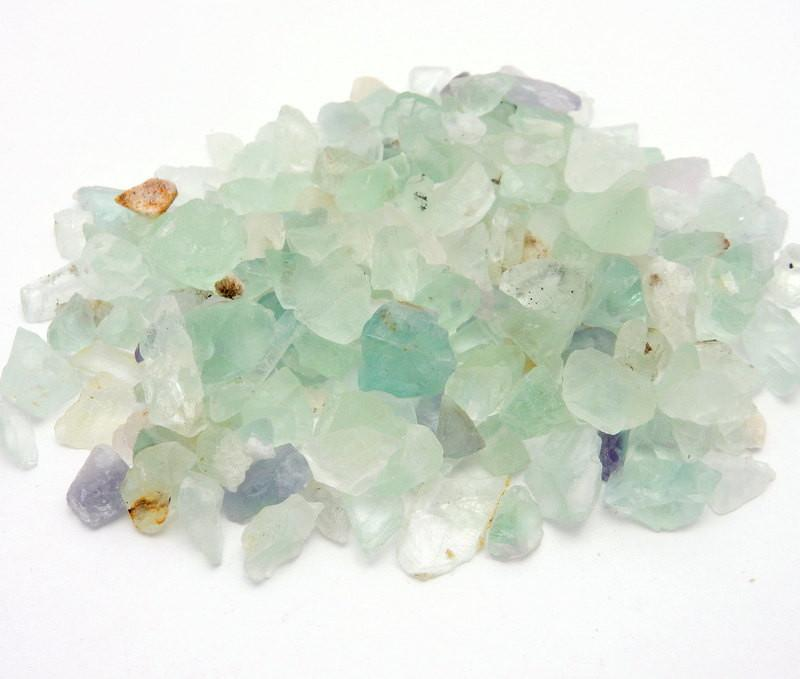 20 Fluorite Stone Pebbles- Tiny Rainbow Fluorite - 20 Pieces  (RK47B4)