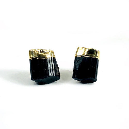 Black Tourmaline Stud Earrings  (RP5044)
