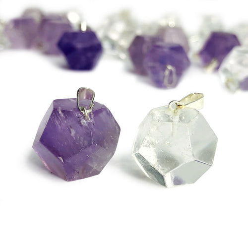 Gemstone Geometric Dodecagon Pendants (RK110B10)