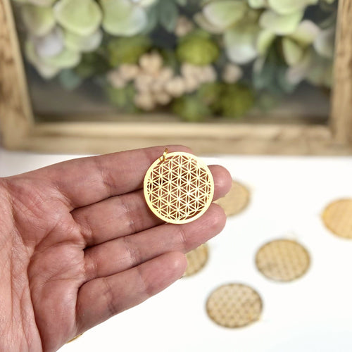 Flower of Life Pendant Gold/Silver Tone (RK195B7)