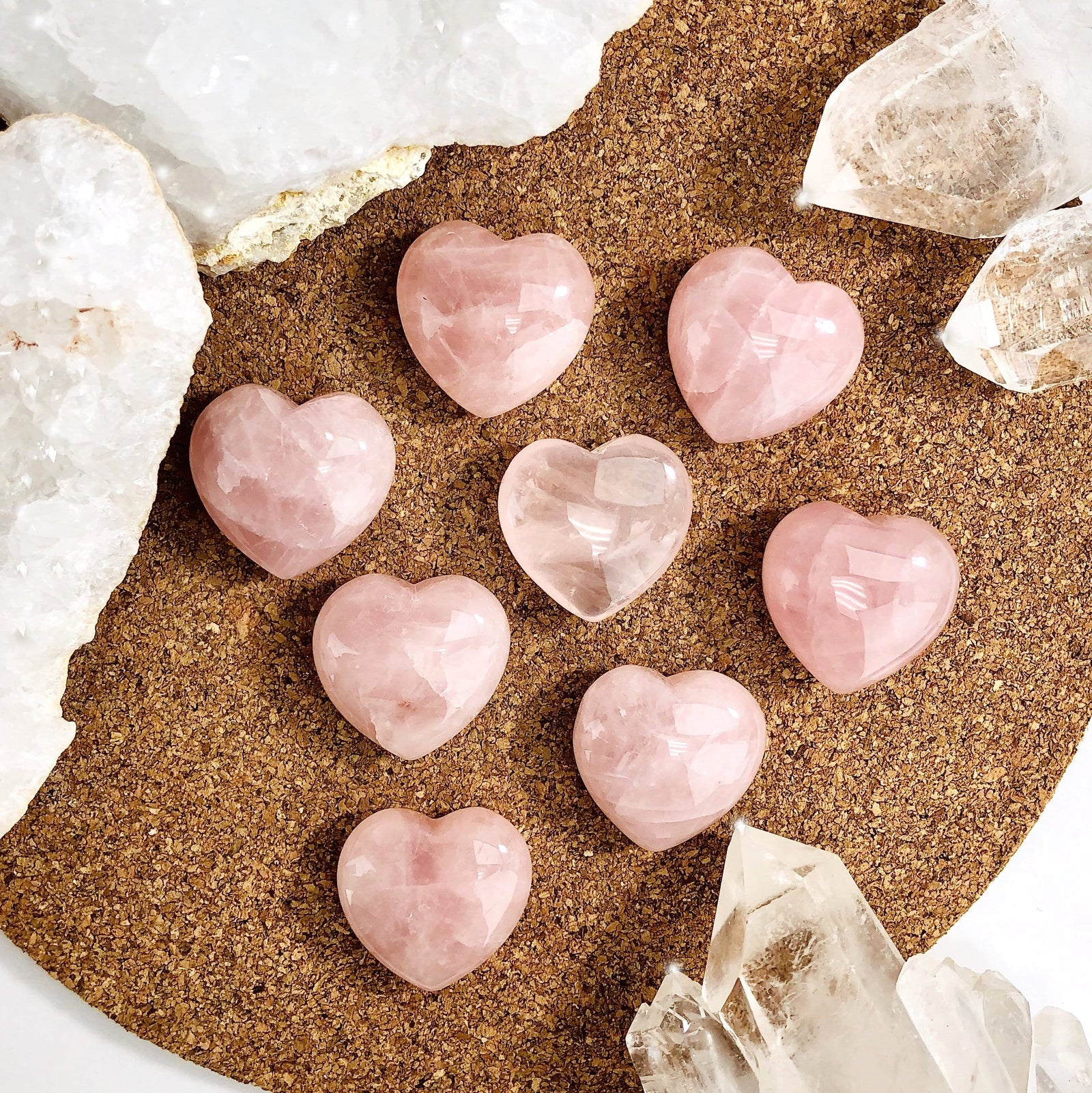 Rose Quartz Hearts (RK701B17)