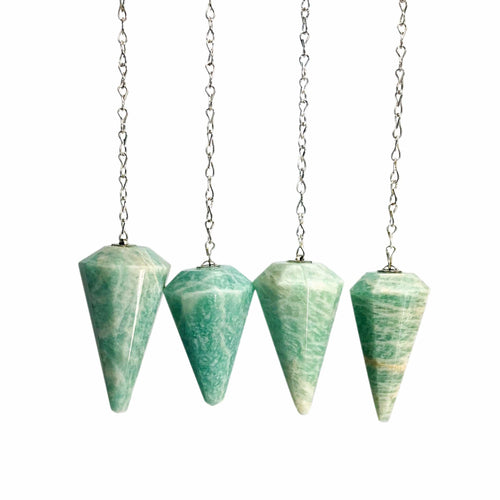 Amazonite Pendulum with Silver Plated Chain (RK91B17-02)