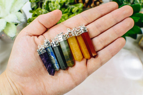 Chakra Set of 7 Pencil Point Pendants