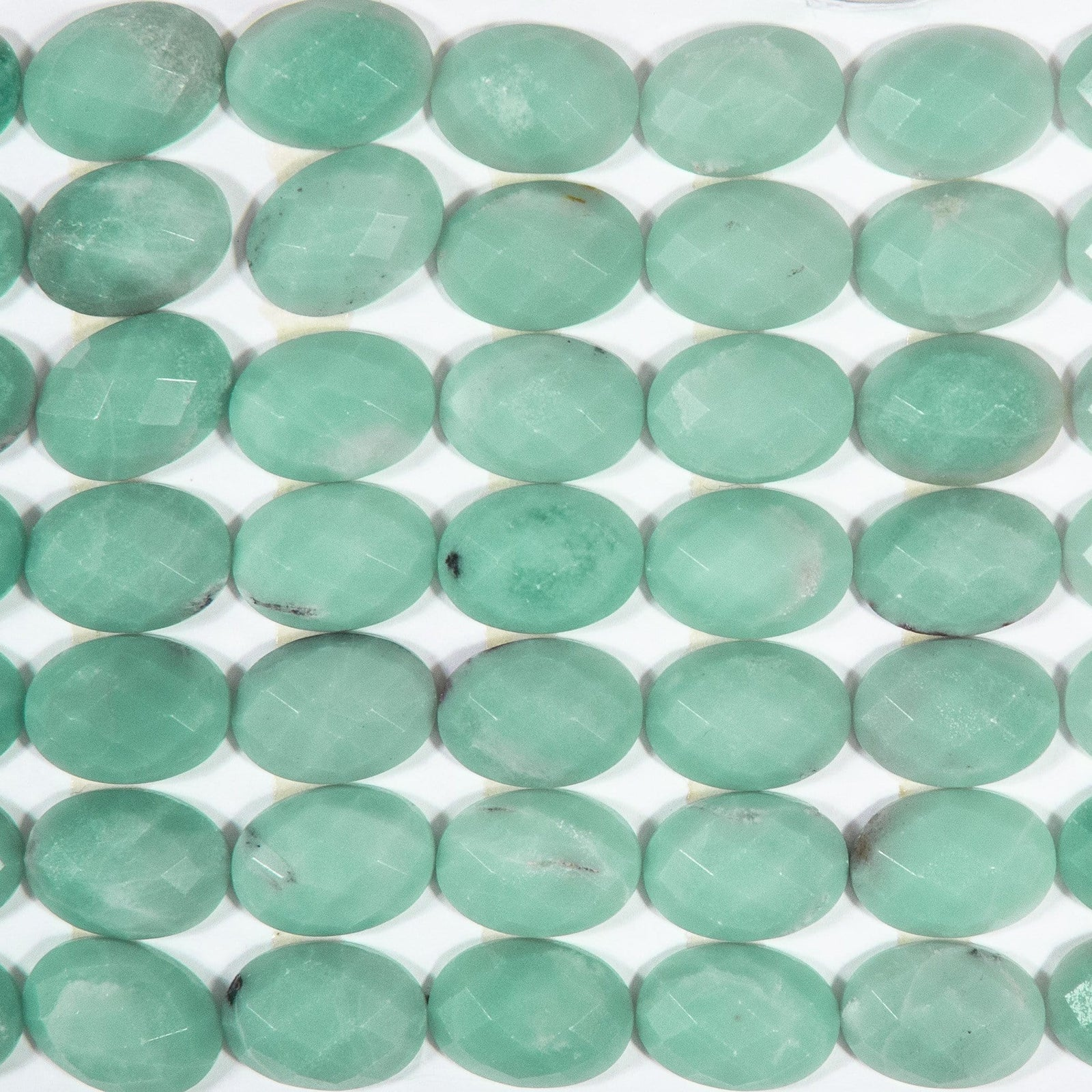 Amazonite Oval Shaped Facted Cabochon (RK145B23-06)
