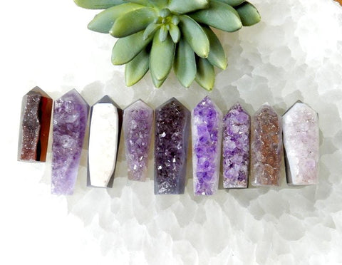 12 pcs Drilled Tumbled Agate Slices - Natural Tones - Agate Jewlery - Brazilian Crystals and Stones (RK84B10)