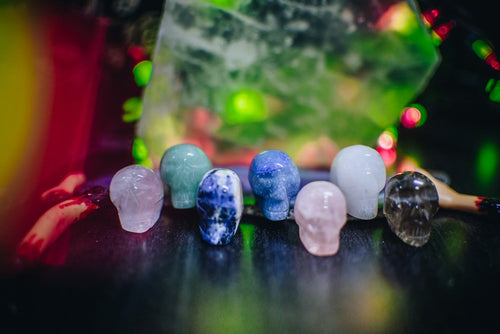 Skull Shaped Gemstones - Halloween Decor (RK167B12)