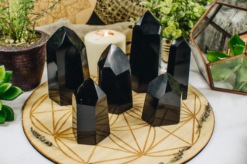 Obsidian Polished Large Points - By Weight (RK139)
