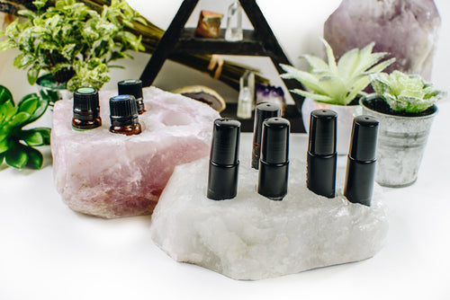 Quartz  Essential Oil Holder - Rough Natural Stone  (RK901Holder)
