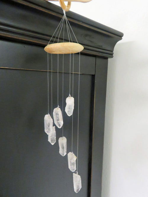 Crystal Point Petite Wind Chime - Mini Crystal Windchime - Home Decór - Choose qty 1,5, or 10 - Crystal Collection (OB2B13)