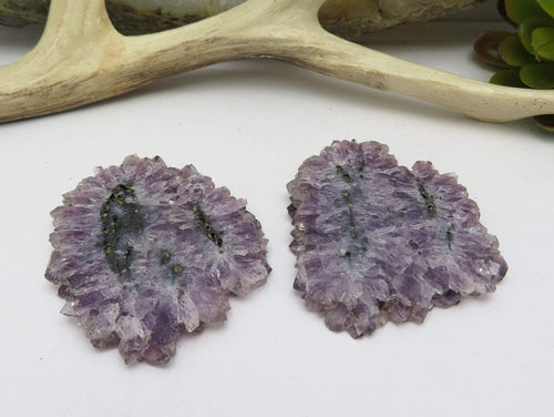 Stalactite Slice Pair (2 ) - Beautiful Formation of Nature - (DOB2-23)
