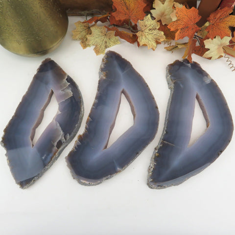 1 Agate Slice - Natural - Home Decor - (RK90B6-01)