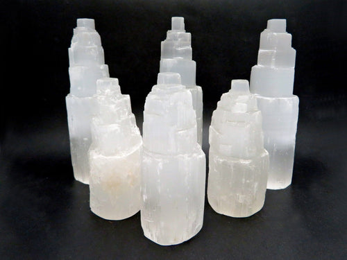 Selenite Raw Crystal Tower