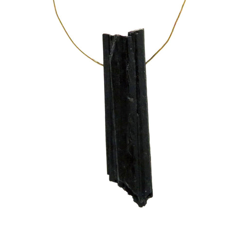 Black Tourmaline Drilled - Pendant size By the piece (RK170B2)