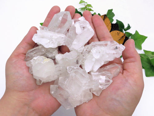 High Grade Crystal Cluster 1 POUND- Clear Crystal Quartz - (LB-900)