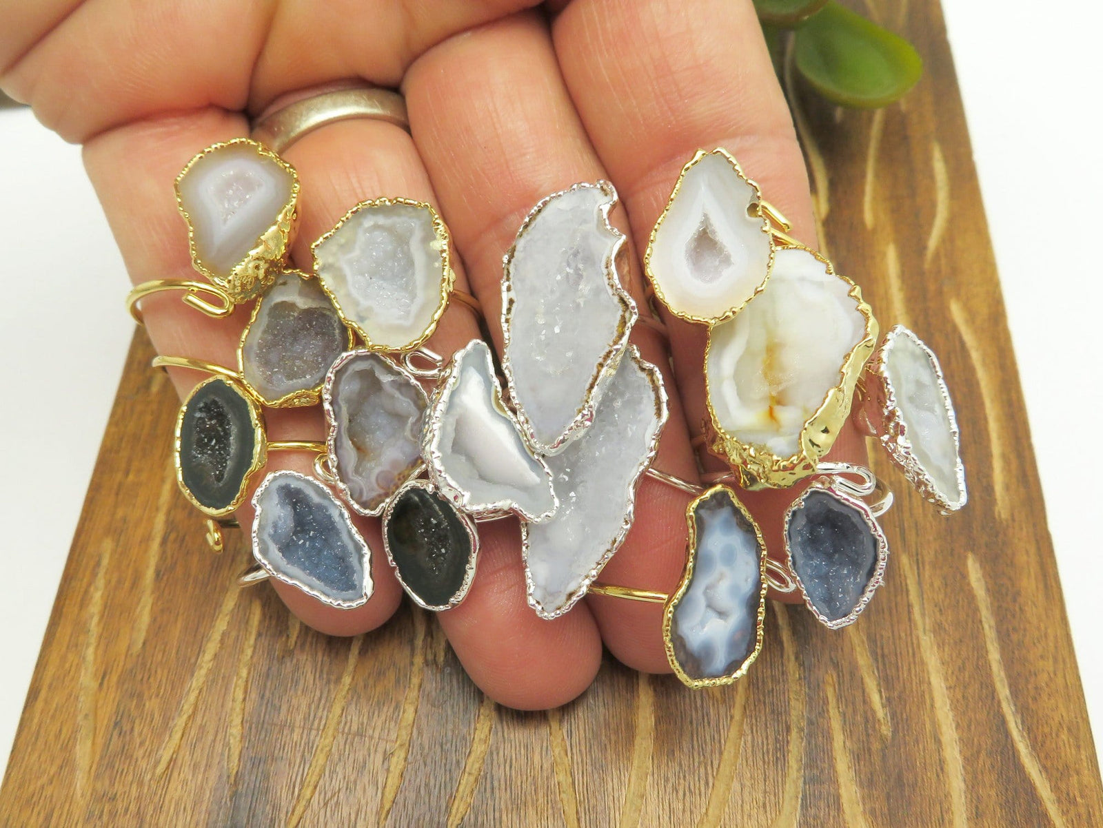 Geode Ring Adjustable - Mexican Geode Rings (RK117B2)