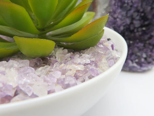 Amethyst Tiny Chip Stones  - Purple Gemstones - Home Decor half lb bags (TS-201)