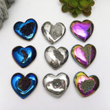 Titanium Druzy Heart - Home Decor - Chakra Stones and Crystals - Agate Druzy (RK132)