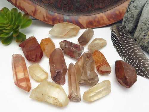 Tangerine Quartz Point - Wire Wrapping - Chakra - Reiki - Metaphysical - CHOOSE the SIZE - Raw Crystal Points (OB7B15)