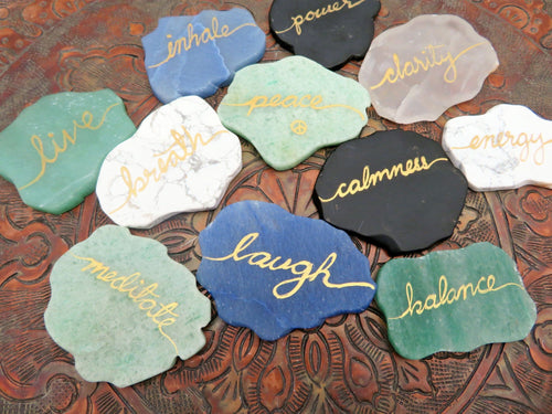 Wedding Place Cards Name Cards Assorted Natural Stones (HW4)