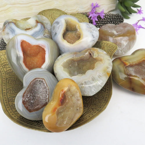 Agate Druzy Hearts - YOU CHOOSE (WRHS-S12-12)