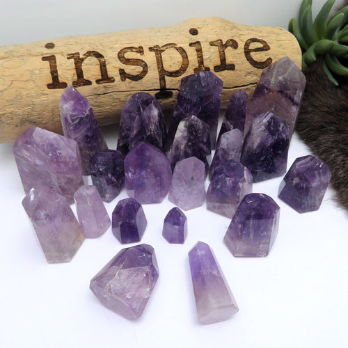 Amethyst Tower Calming Stone Metaphysical (RK111)