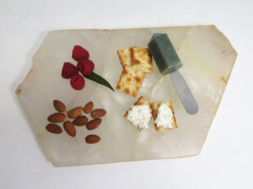 Crystal Quartz Platter - Stone Slab - YOU CHOOSE SIZE (OB14A)