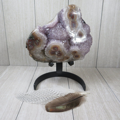 Amethyst Formation With Stalactites  (OOAK-RK06)