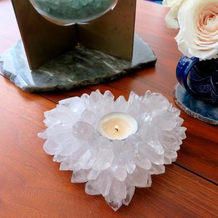 Crystal Point Candle Holder Heart Shape (HW2-28)