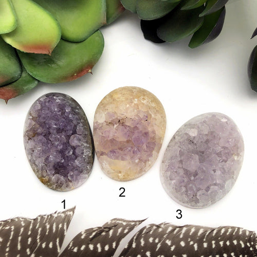 Polished Amethyst Crystal Clusters - Undrilled Cabochon - You Choose (RK92B10-02)