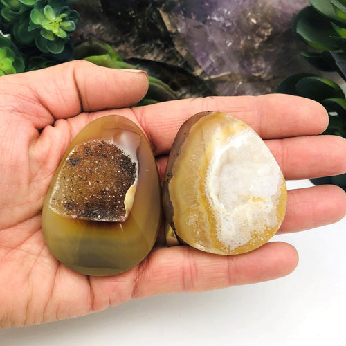 Polished Agate Druzy - Large Undrilled Cabochon - You Choose (RK125B9-15)