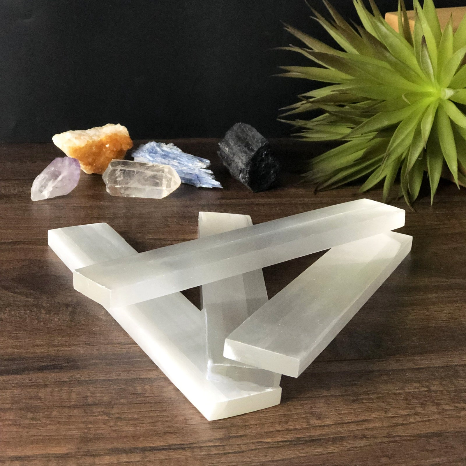 Selenite Bars - Long Polished Gypsum Rod - Metaphysical - Charging Station - Chakra -  Selenite Chunk - (RK900B2)